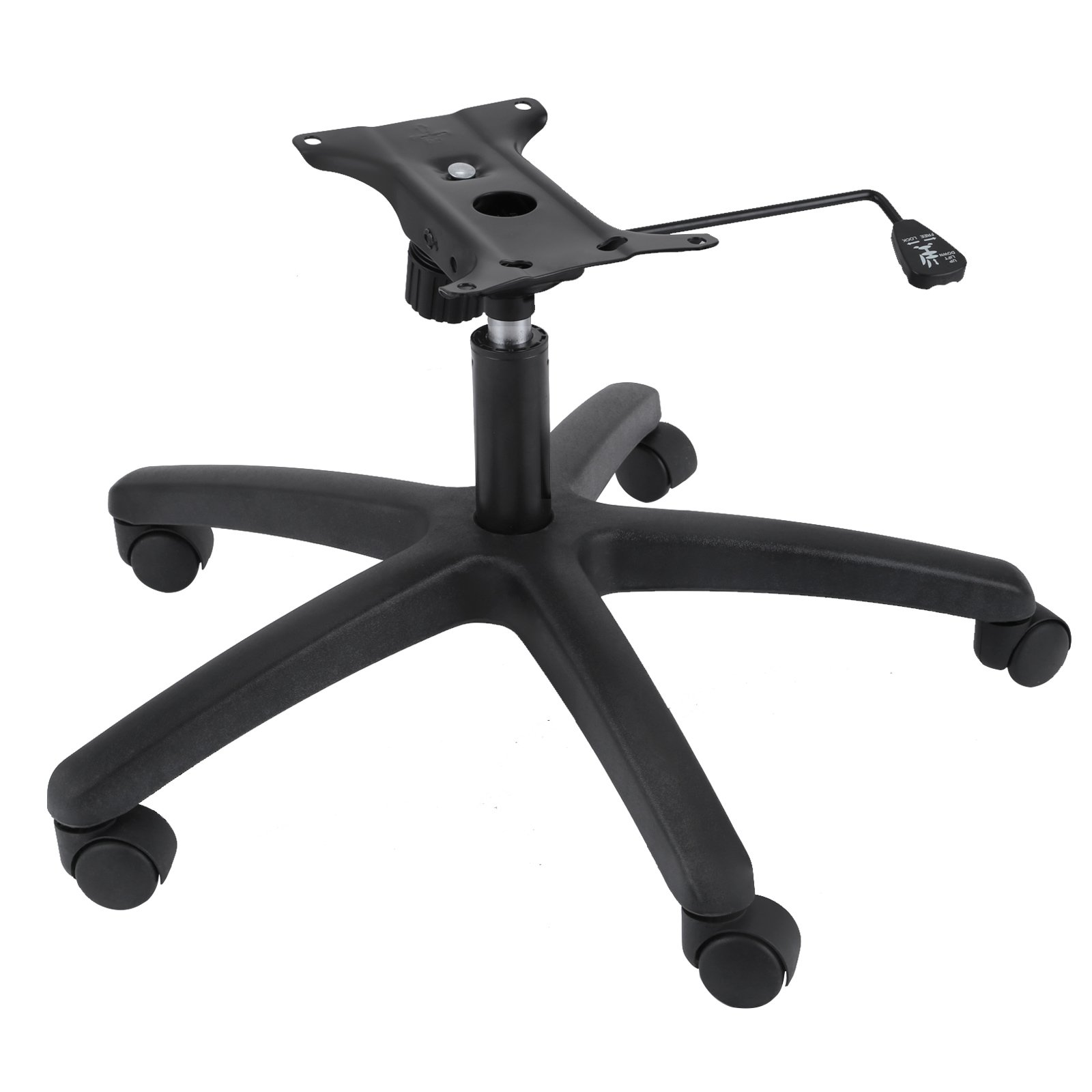Mophorn Office Chair Base 28 Inch Swivel Chair Base Heavy Duty 350 Pounds Replacement Office Chair Base with Bottom Plate Base Cylinder and 5 Casters (Conversion Chair Base) by Mophorn