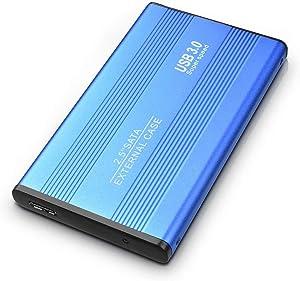 External Hard Drive, Ultra Slim Hard Drive USB 3.0Portable Hard Drive External Storage for PC, Laptop, Xbox one, Mac (2TB, Blue)