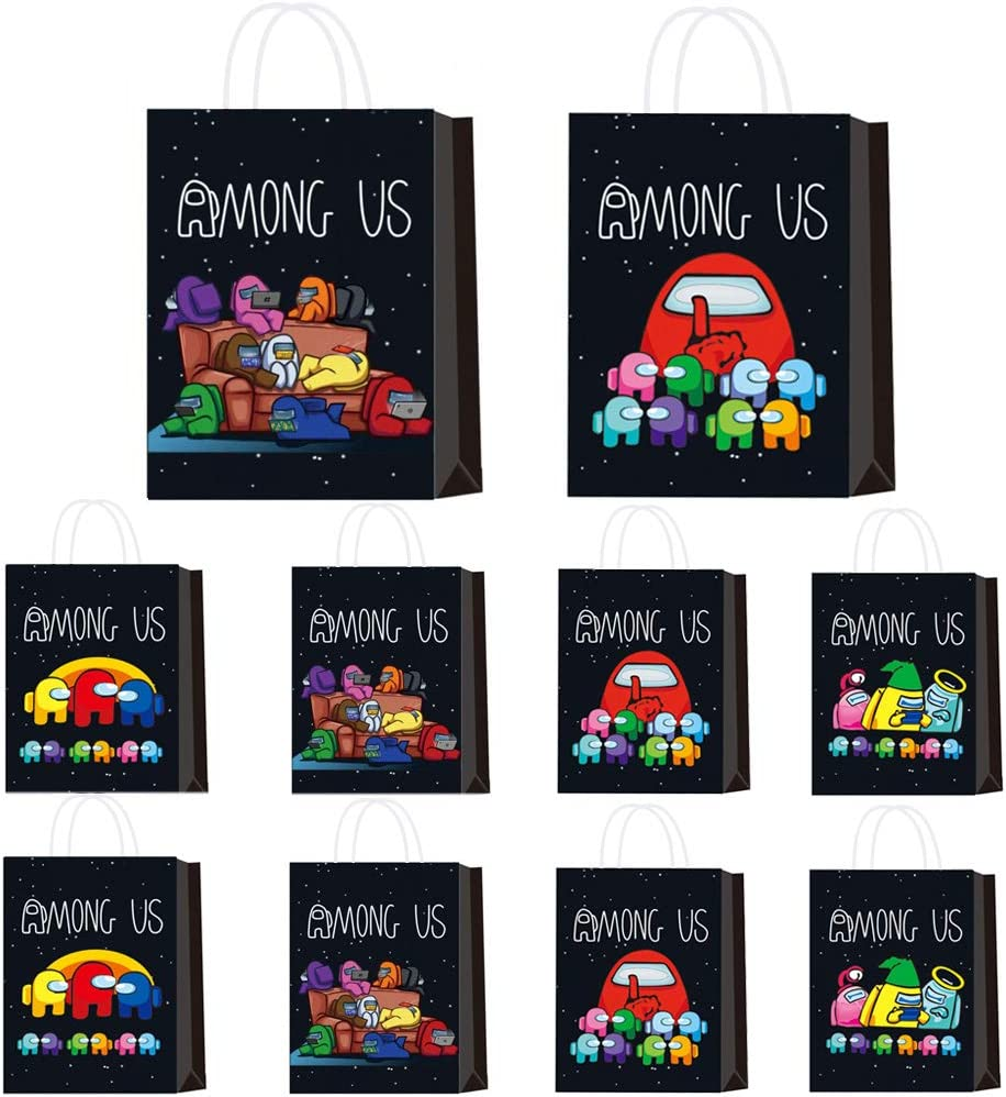 Plastic Goodies Candy Treat Snack Bag for Kids Among Us Theme Birthday Party Baby Shower Decoration Supplies Newmemo Among Us Party Gift Bags 30pcs Among Us Party Favors Among Us Gift Bag
