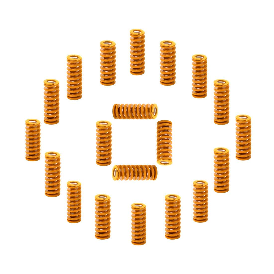Zeelo 3D Printer Springs 20 Pack 0.31 in OD 0.78 in Length Compression Springs M3 Screw Light Load for Creality CR-10 10S S4 Ender 3 Motherboard Bottom Connect Leveling
