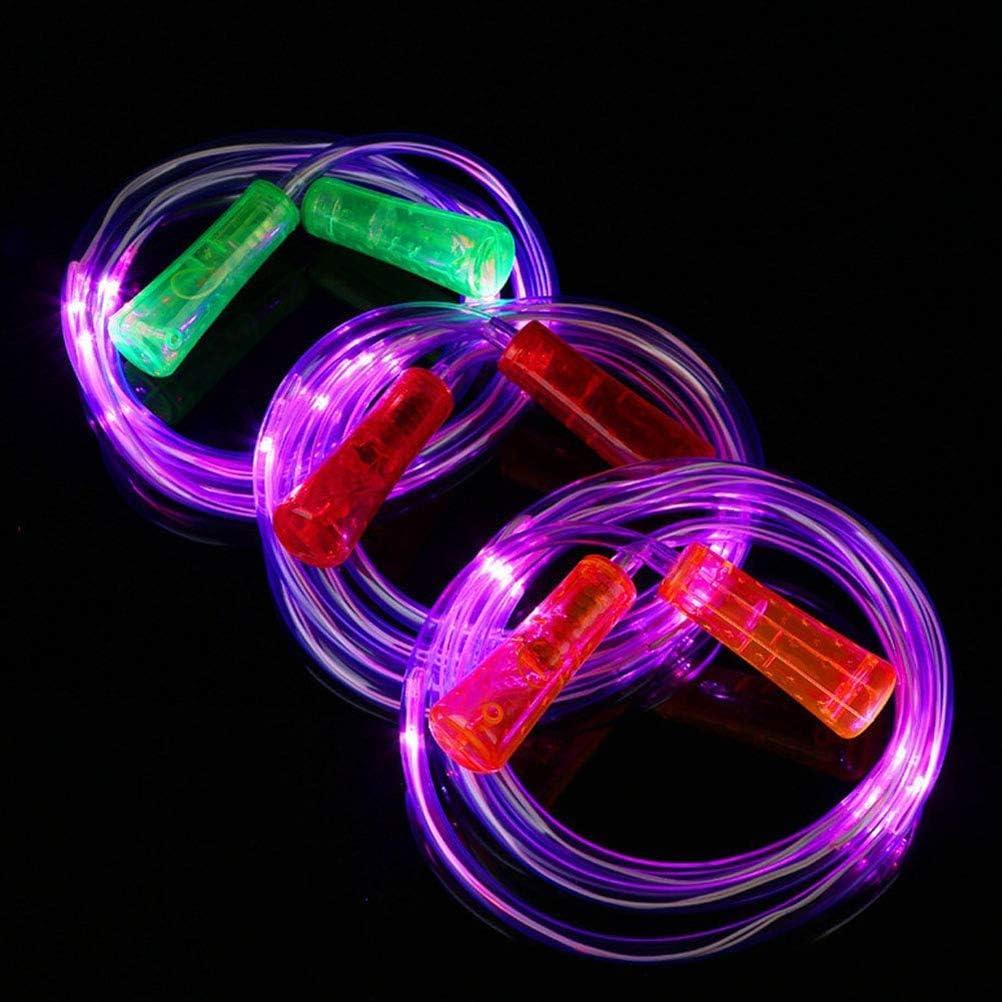 Volking Corda per Saltare Luminosa 2 Pezzi incandescente Corda per Saltare Giocattolo per Fitness Regalo Lampeggiante per Bambini Festa per Adulti
