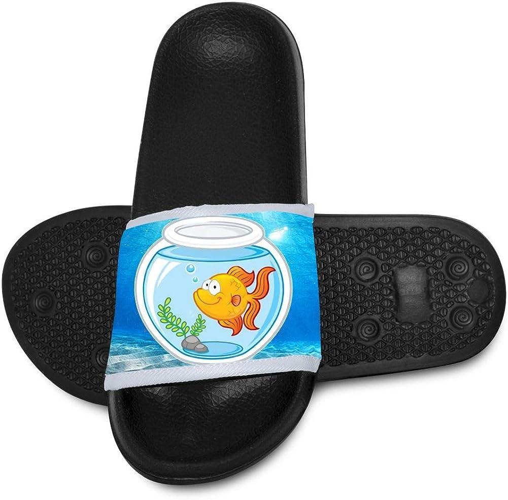 M US little Kid Black Goldfish,Fashion Cute Funny Slippers For Children 11 B