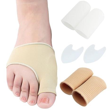 JTDEAL Almohadillas de gel juanete y Juanete Tratamiento, Corrector de juanetes (8pcs) incluye