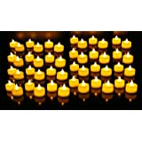Urvi Creations Set of 12 Smokeless, Flameless, Battery Operated Led Tea Light Candles Diya for Diwali Gift