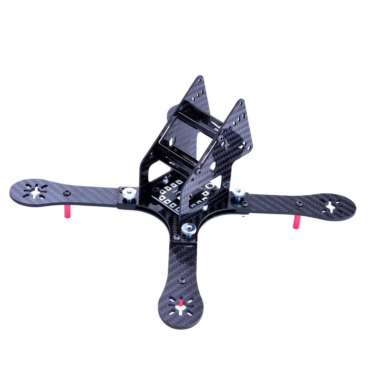 Amazon.com: GE220 RC Drone Carbon Fiber Frame Quadcopter Frame Kit ...
