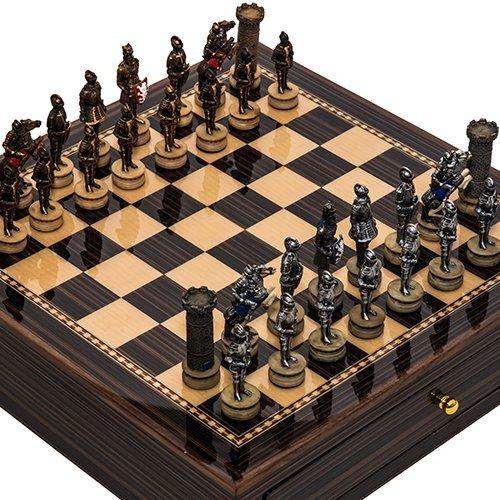 公式サイト Medieval & Chessmen & 7番街メープル&ウォールナットチェスボード Medieval Chessmen/キャビネットの引き出し2つ B015CAHMHQ, 新里村:c3c52722 --- arianechie.dominiotemporario.com