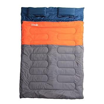 BRG315 Parejas Dobles De Dormir Se Abrieron Engrosamiento Calientes Bolsas De Dormir Para Acampar Al Aire Libre Para Adultos De Interior De Algodón Doble ...