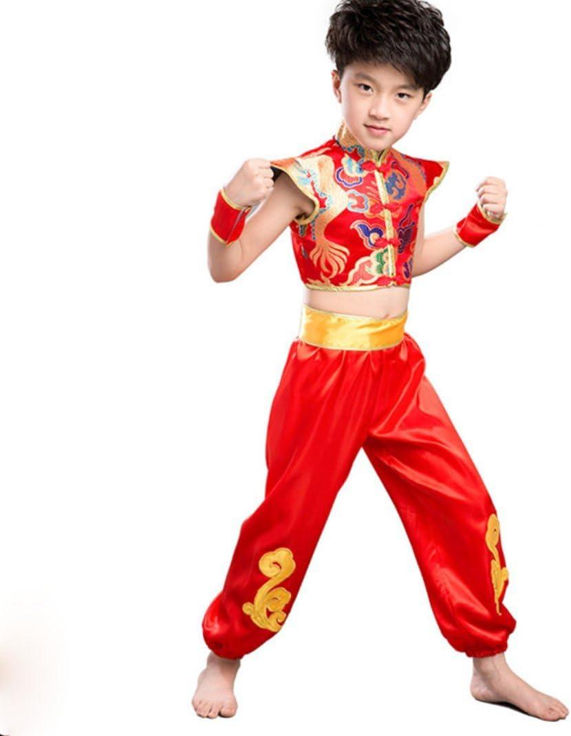 HUOFEINIAO Costumes De Danse Ethnique pour Enfants Gar/çons De Style Chinois Yangge Festive V/êtements