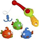 Bagnetto Giocattoli Colorato Pesce Giochi da Bagno Giocattoli da Bagno Set per Bambini 3+
