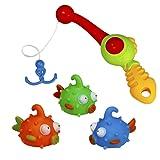 Bad Angeln Spielzeug mit Schwimmenden Fisch Badespaß Zeit Großes Geschenk für Bad lustig (Style C)