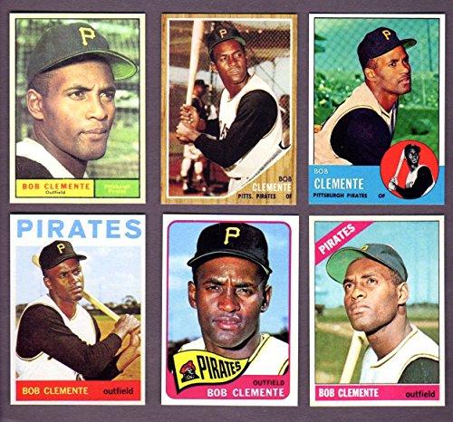 Roberto Clemente (6) Card Reprint Lot #2 1961, 1962, 1963, 1964, 1965, 1966 Cards (Pirates)