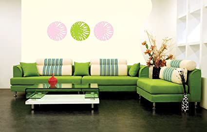 Asian Paints Royale Play Wall Fashion Flower Power Stencil/Wall Sticker For  Home And Office