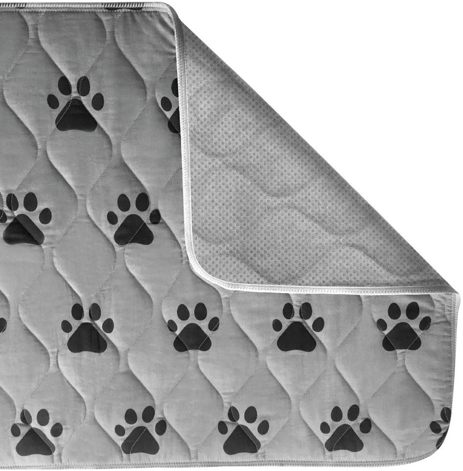 Gorilla Grip Premium Waterproof Pet Pad and Bed Mat for Dogs, Reusable Washable Leak Proof Pee Pads for Dog Crates, Less Cleanup, Puppy Crate Training, Soft Absorbent Protection Potty Mats, Many Sizes