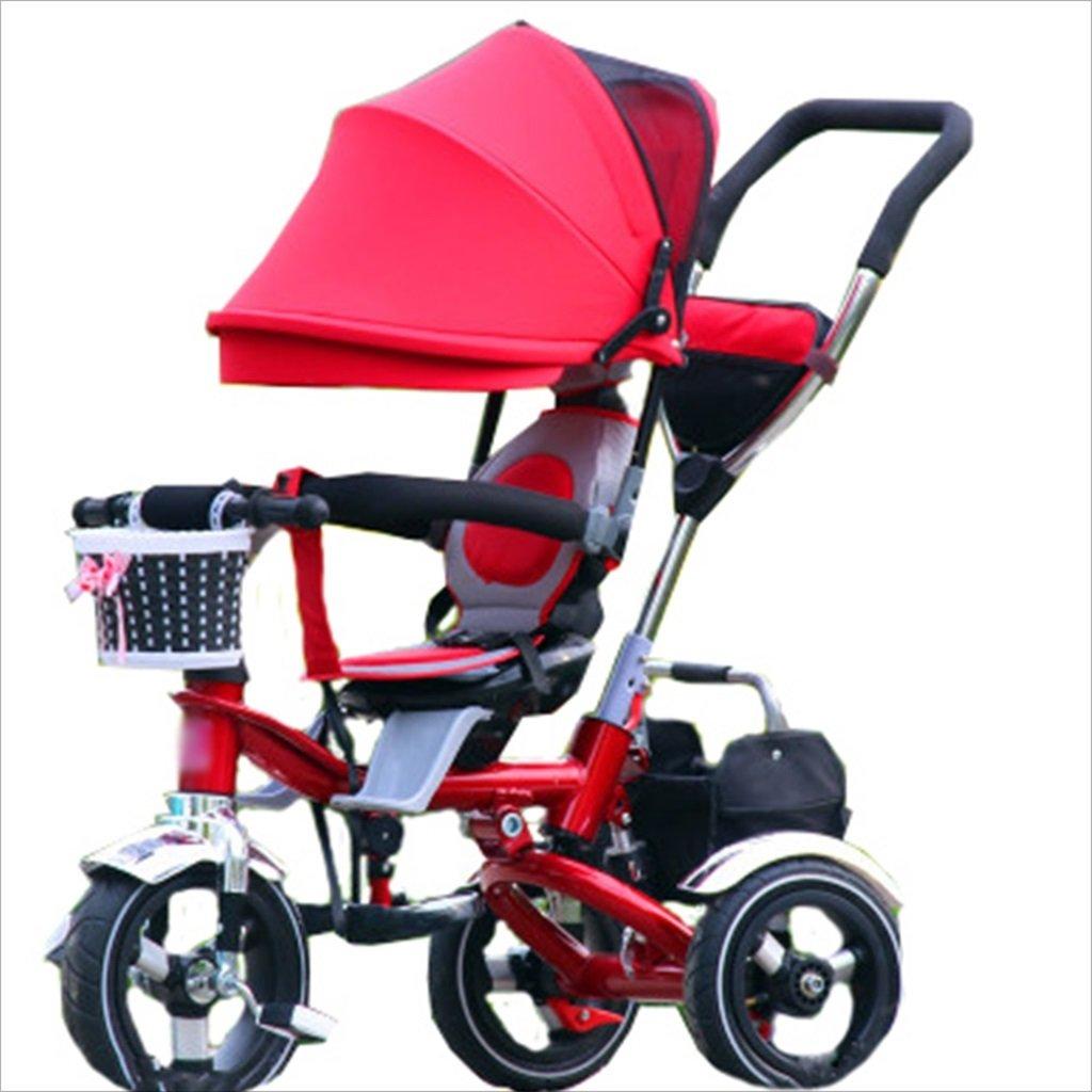 子供の屋内屋外小型三輪車自転車の男の子の自転車の自転車6ヶ月-5歳の赤ちゃんスリーホイールトロリー、ダンピング/折りたたみ/回転座席 (色 : 8) B07FGDG2ZW8