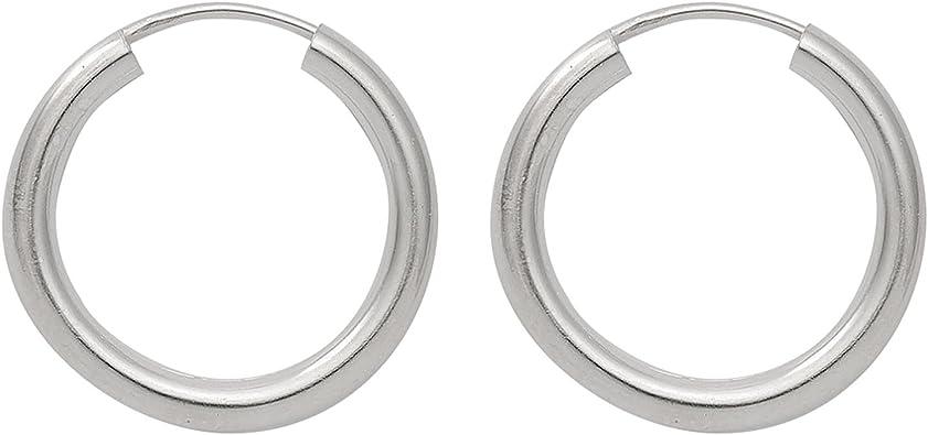 Echt 925 Sterling Silber Creolen Ø 8-14mm Ohrringe Ohrschmuck Ohrhänger