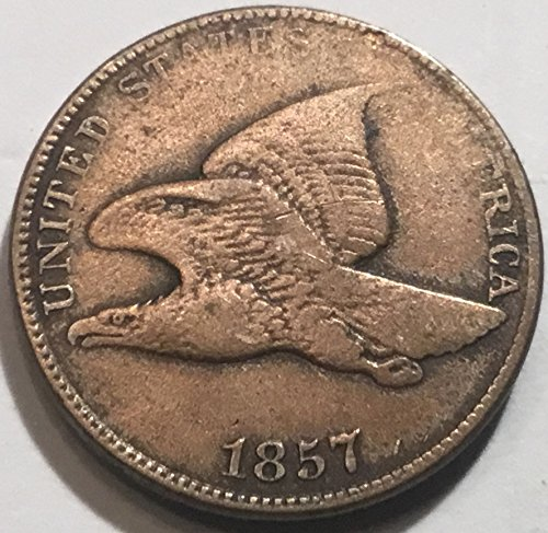 - 1857 Flying Eagle Cent Penny Very Good Details