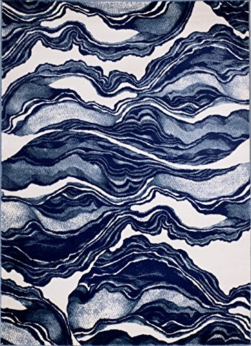 MADISON COLLECTION AX-HRY1-TVK3 403 Modern Abstract Blue Area Clearance Soft Pile Durable Size Option, 1'10'' x 2'11'' Scatter Rug Door (1'10' X 2'10' Rectangular Rug)