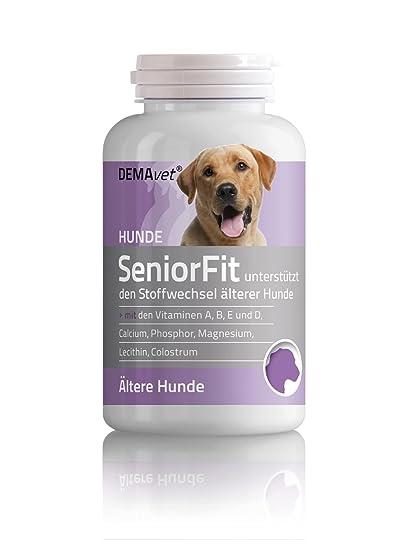 demavet seniorfit – Complemento para los alimentos para perros – 120 Pastillas – con magnesio y