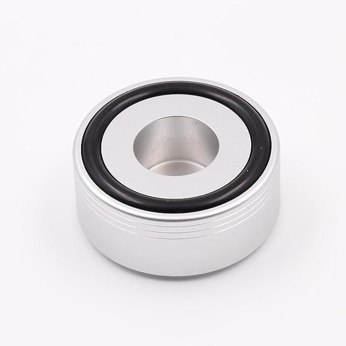 PAPRI Aluminum Alloy Speaker Foot pad 49x22MM Silver Anodized Sand Blasting Audio HiFi DIY Turntable Foot pad 4PCS
