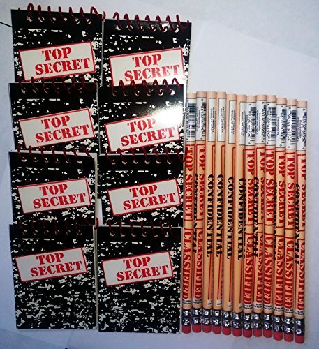 Top Secret Notebooks and Pencils 12 -