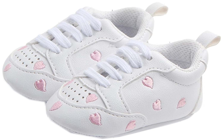 bettyhome Unisex Baby Newborn Pink Heart Soft Sole Infant Toddler Prewalker Sneakers 0-1 Year