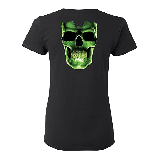 Amazon Com Zexpa Apparel Glow In The Dark Skull Women S T Shirt