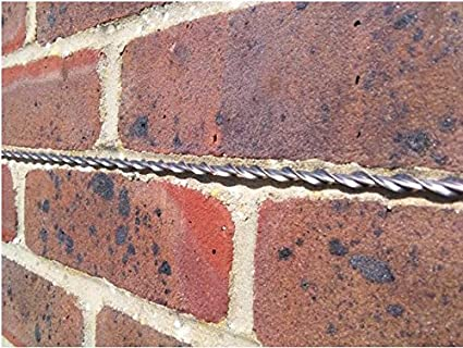 Helical Crack Stitch Bars x 10 1mtr Long x 6mm For Brick and Stone Wall  Repairs