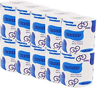 Toilet Paper Greatfun 6/10 Rolls Soft Professional Series Premium 3-Ply Toilet Paper, Home Kitchen Toilet Tissue, Soft, Strong and Highly Absorbent Hand Towels for Daily Use(White) (10PCS)