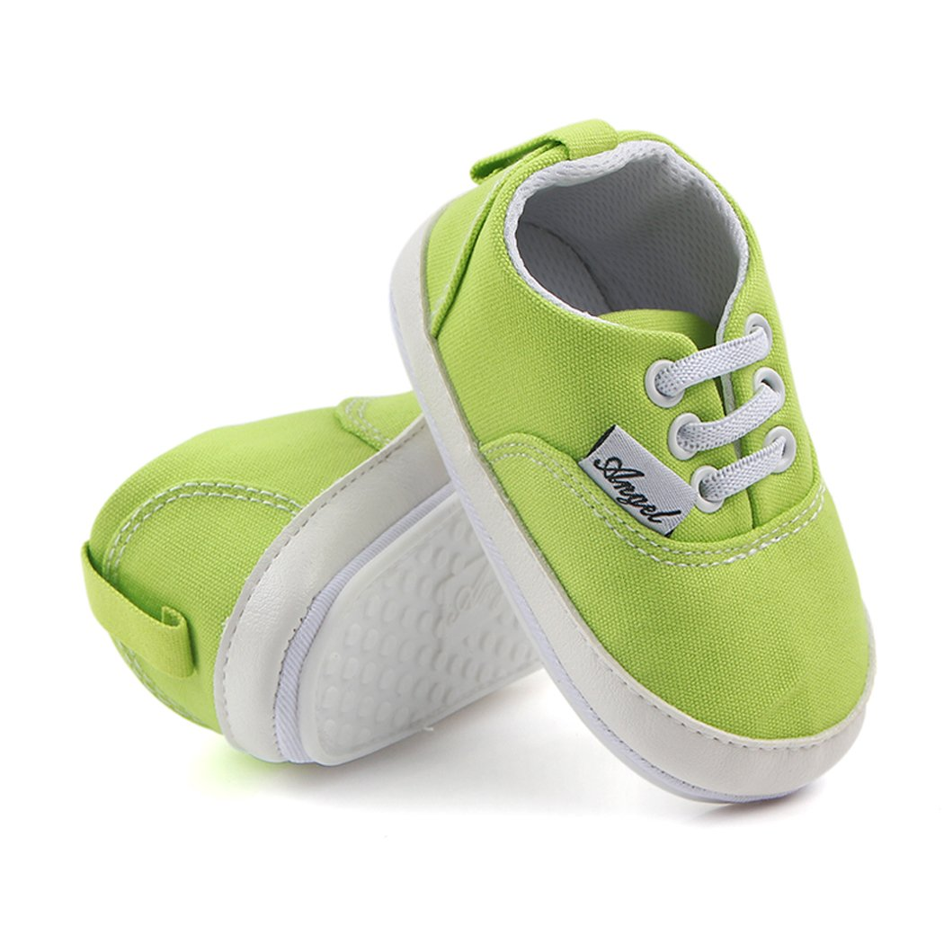 Soft Baby Boys Girls Canvas Toddler Sneaker Anti-Slip Ultra-Lightwight First Walkers Candy Shoes 0-18 Months Dog-38
