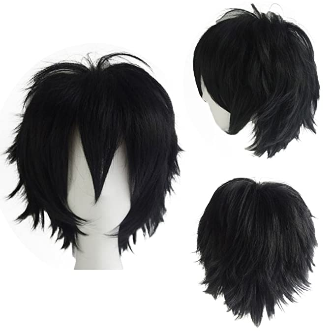 UK Dispatch Thick Long Black Straight Fantastic  Fancy Dress Wig