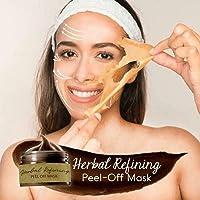 Herbal Refining Peel-Off Mask,Tearing Shrinks Pores Mask Remove Blackheads 120ml...