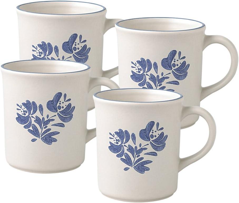 Pfaltzgraff Yorktowne Gray Blue 10 oz Cup VERY NICE!