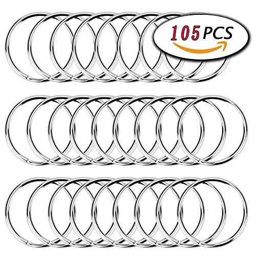 Key Ring Plated Nickel (Key Rings Bulk (25mm), Nickel Plated Split Key Chain Ring Connector Keychain, Key Chain Rings,Round Key Chains, Key Link Ring, Equipment and gatekeepers Key Ring, Arts & Crafts 105 PCS …)
