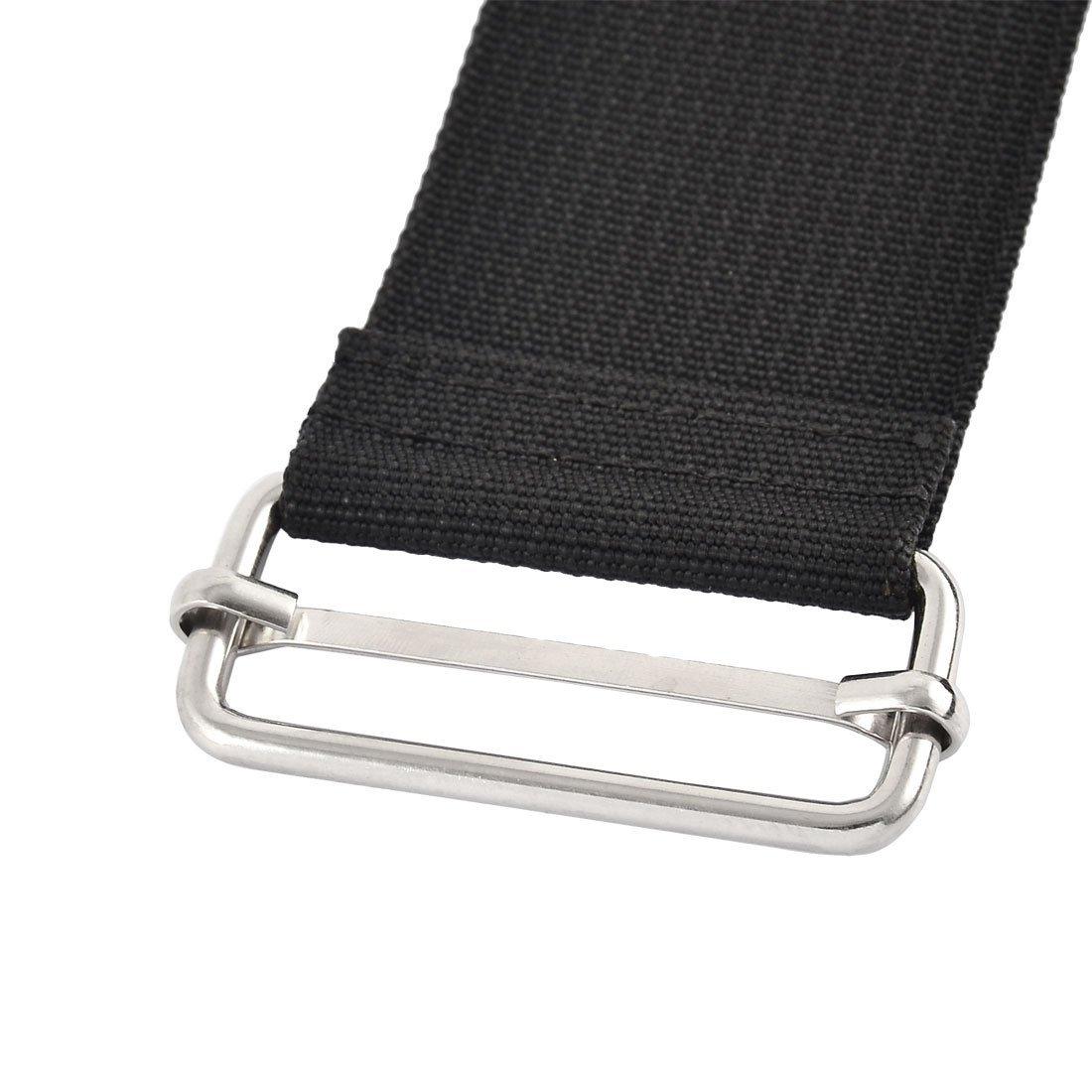 EbuyChX Naylon sa bahay Travel Adjustable Suitcase Bagahe strap belt buckle 2.5M Haba ng Black