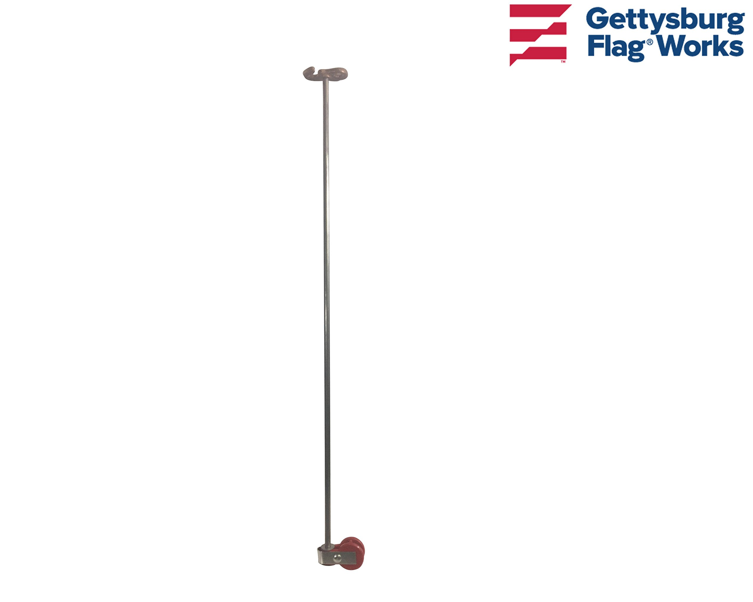 2.5' Light Duty Non-Tangle Rods for Wall Mounted and Outrigger Flagpoles, Fits 3x5' or 4x6' Flags