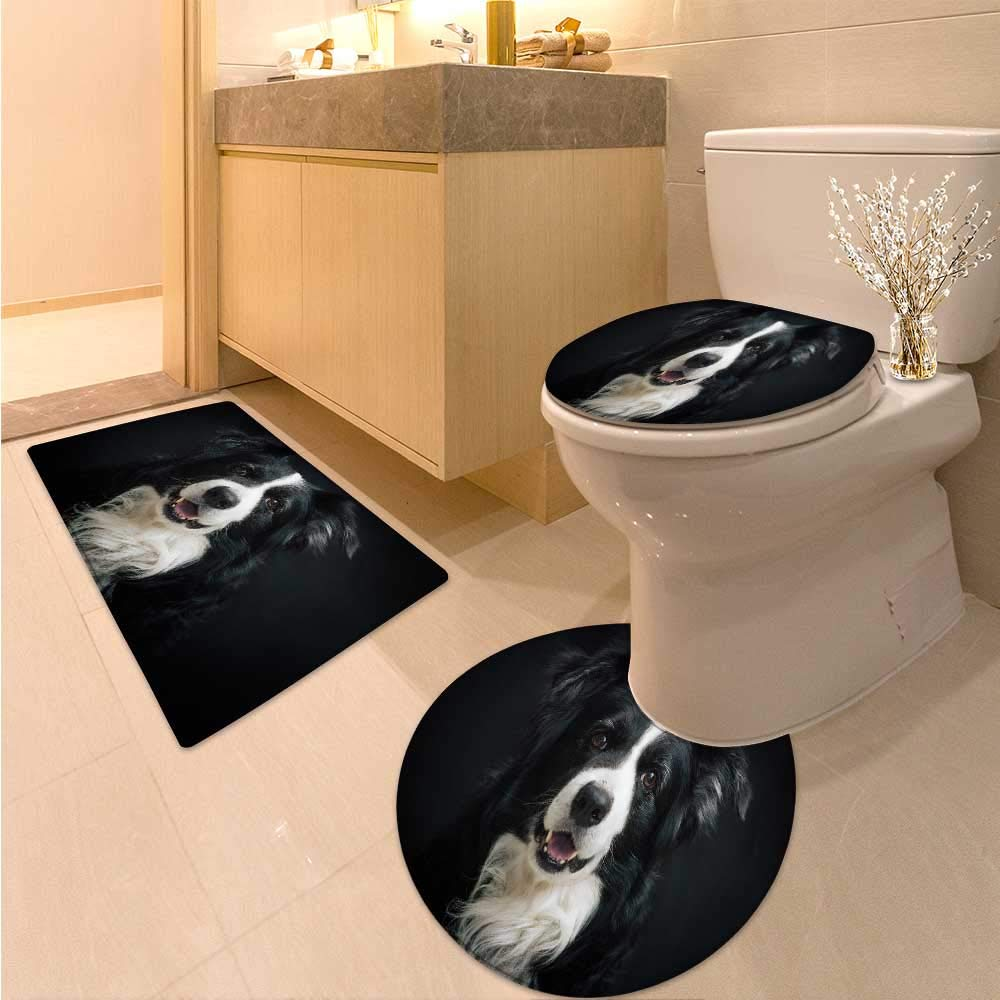color6 15\ color6 15\ Miki Da Large Contour Mat Black White Dog Soft Non-Slip Water