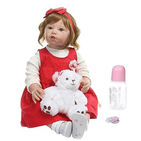 Muñeca Reborn de 32 pulgadas, realista, de silicona, vinilo ...