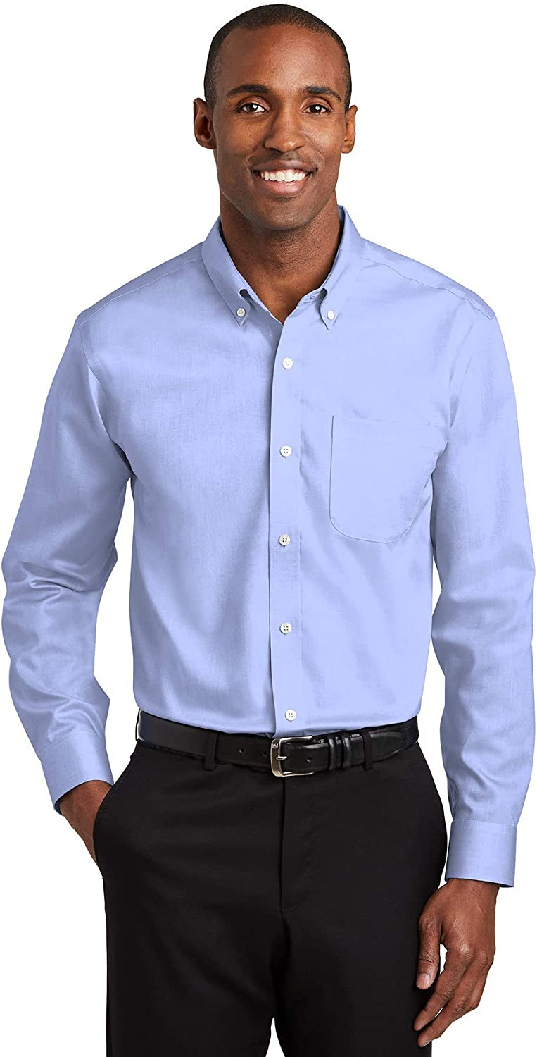 Red House Mens Tall Pinpoint Oxford Non-Iron Shirt