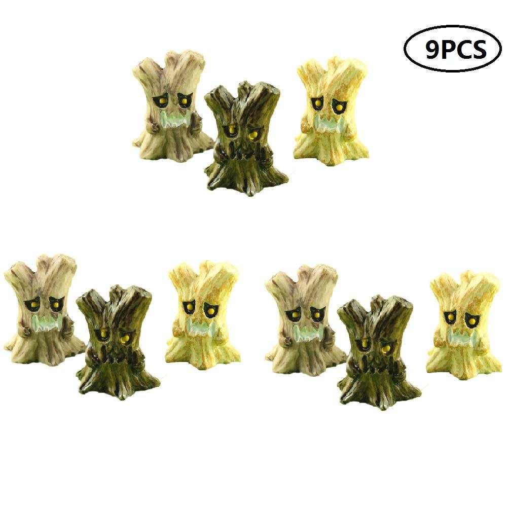 Yardwe Fairy Garden Ornaments Groot Figure Micro Landscape Decoration Halloween Desktop Miniature for Party Favor 9Pcs