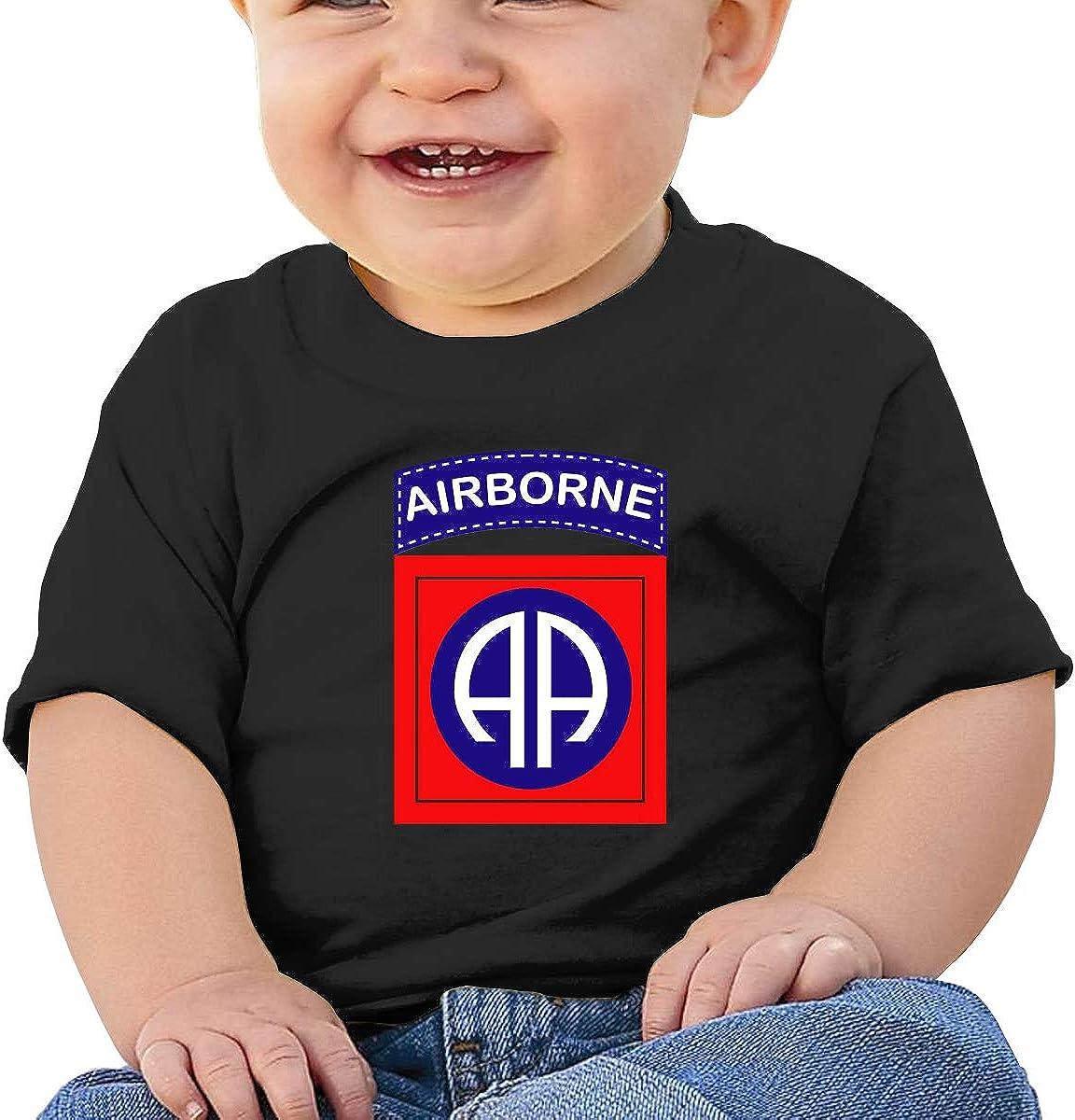 Zippem 82nd Airborne Division Short Sleeve T-Shirt Best for Baby Toddler//Infant Kids T-Shirt Close Skin Soft
