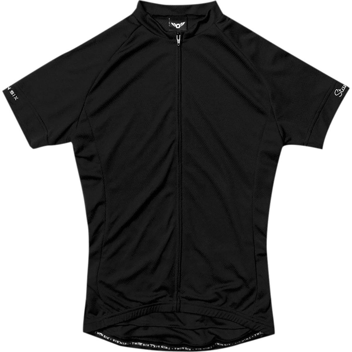 Twin Six Standard半袖Jersey – Men 's B0187MGPWO X-Large ブラック ブラック X-Large