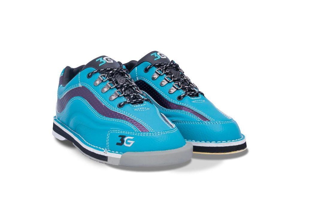 Bowlerstore Products 3G Ladies Sport Ultra Bowling Shoes Right Hand- Teal/Purple (5 1/2 M US, Teal/Purple)