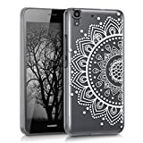 kwmobile Elegant and light weight Crystal Case Design sunflower pattern for Huawei Y6 in white transparent