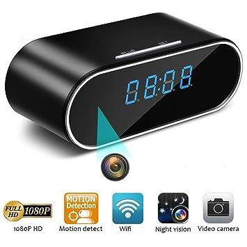 Diseño oculto Cámara espía Niñera Cam Cámaras ocultas WiFi en Reloj Mini HD 1080P Cámara oculta