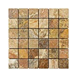 Scabos Travertine 2 X 2 Mosaic Tile, Tumbled - Lot of 50 sq. ft.