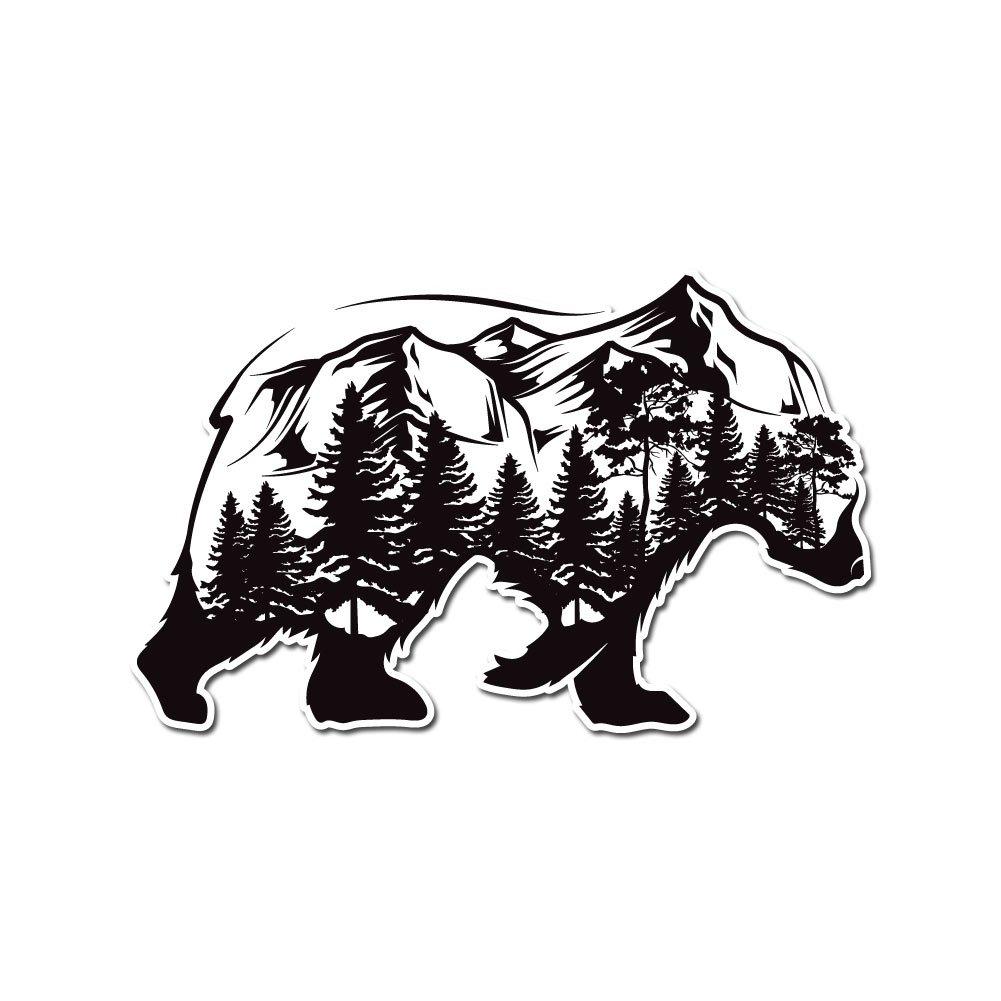 人気ブランドを フォレストand Mountain Bearシルエット Inch – More ビニールデカール屋内または屋外の使用、車、ノートパソコン フォレストand、飾り、Windows、and More 6 Inch Bear-ForstBody6 6 Inch B07B8BYKRV, 高品質の激安:2fddc2e5 --- a0267596.xsph.ru