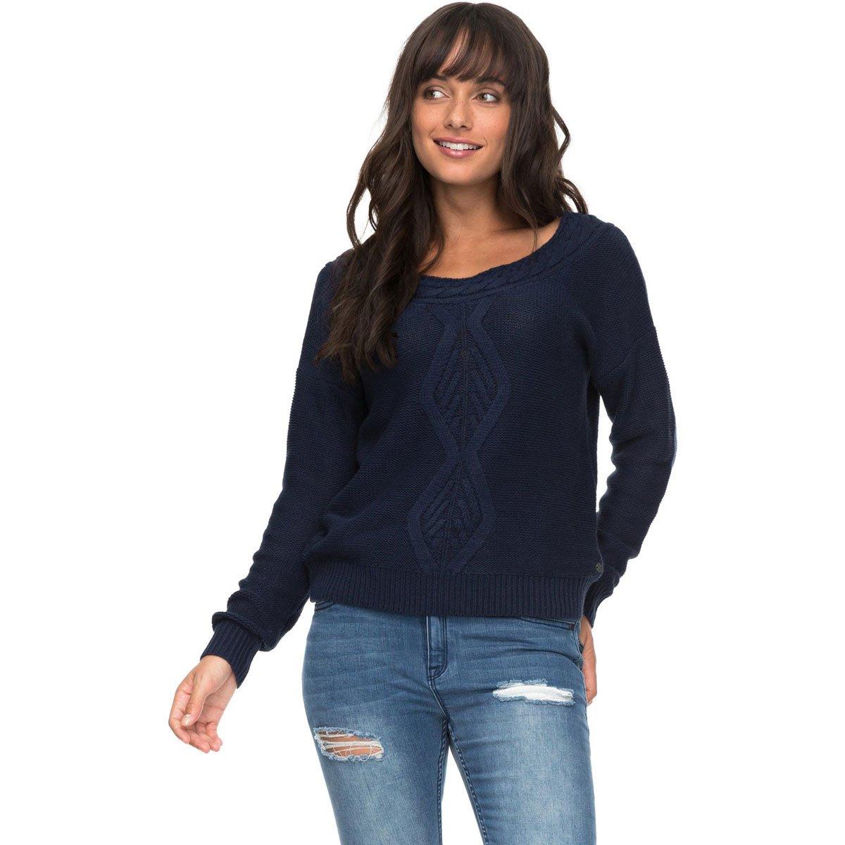 Roxy Junior's Choose to Shine Sweater, Dress Blues, L