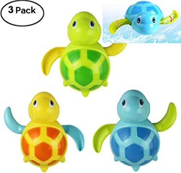 Bathtub Pool Bath Time Shower Swimming Turtle Tortoise Wind-up Toy For Baby Kids