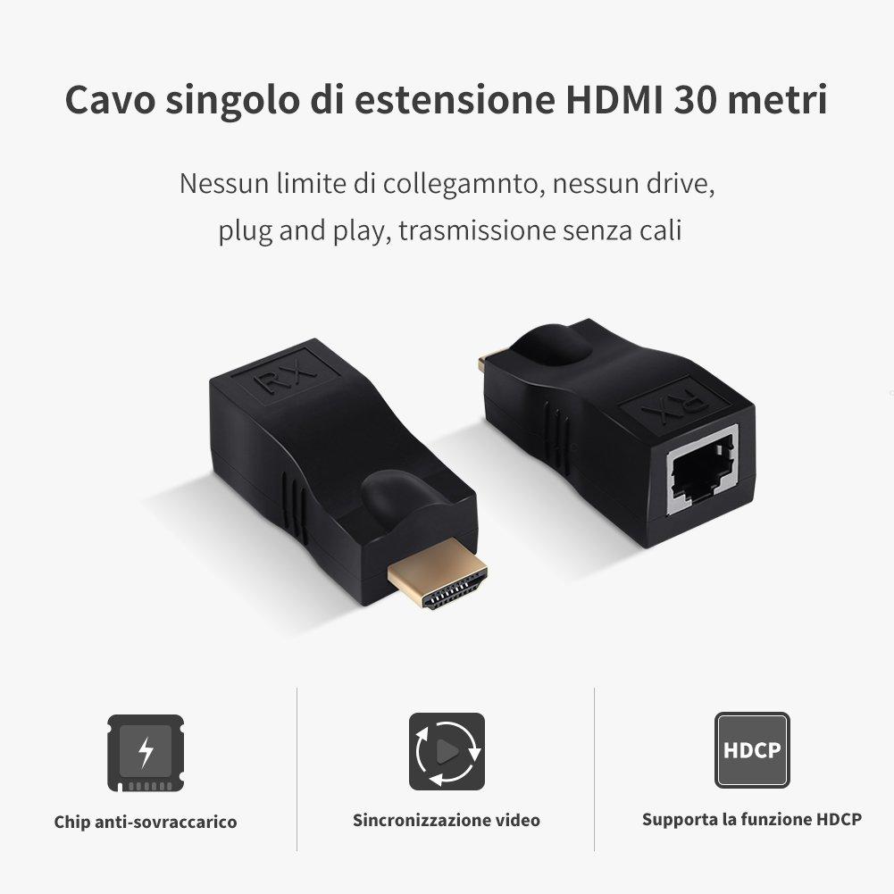 GHB HDMI Extender HDMI Extensión de amplificador 30M: Amazon.es: Electrónica