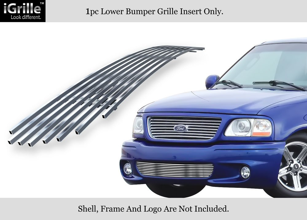 APS F85384A Polished Aluminum Billet Grille Replacement for select Ford F-150 Models